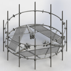 Circular platform for guyed tower w/HR (Each)