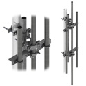 H D dish mount w/two 7ft mast pipes (Each)